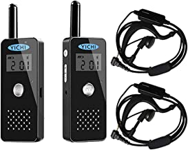 YICHI Ultra Slim Long Range Two-Way Radios Portable Ultra-Thin UHF 400-470Mhz 22 Channel Rechargeable Walkie Talkies