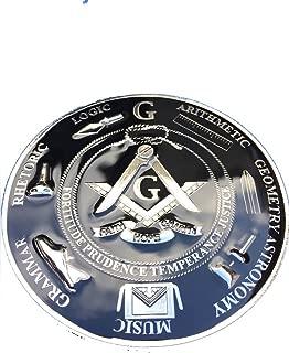 Equinox MR Master Mason 3D Black background Symbols Heavy Duty car Embelm