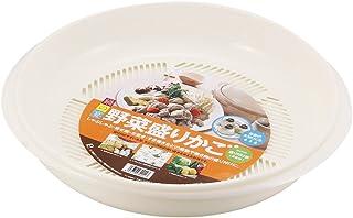 パール金属 鍋の宴 野菜盛りかご 【日本製】 H-5112 ベージュ 幅400×奥行370×高さ75mm