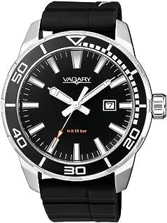 Orologio Vagary AQUA 39 IB8-011-50 Al quarzo (batteria) Acciaio Quandrante Nero Cinturino Silicone