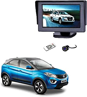 Autokraftz 4.3 Inch Tft LCD Monitor with 8 Led Night Vision Car Reverse Camera for Tata Nexon (Combo of 2)