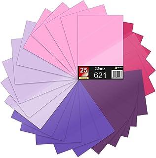 25 x DIN A4 vellen plotterfolie 621/631 zelfklevende folie in set vinyl voor plotten DIY knutselfolie sticker belettering ...