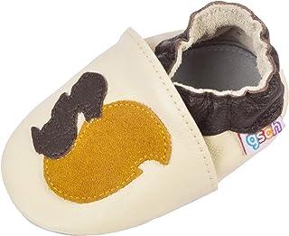 gsch Baby Boys Girls Shoes Non-Skid Slipper Sneaker Moccasins Infant First Walker House Walking Crib Shoes Baby Walker Soc...