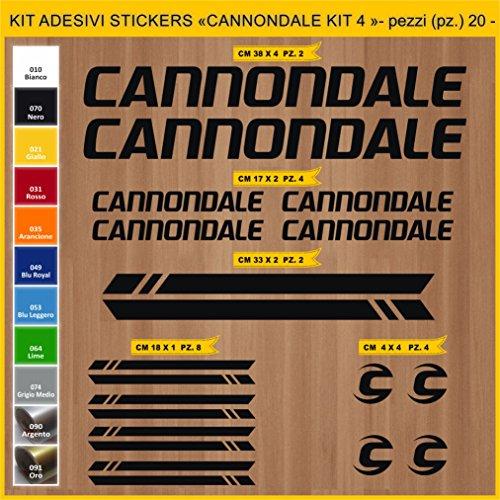 Pimastickerslab Aufkleber Fahrrad Cannondale - KIT4- Kit Aufkleber Stickers 20 Stück – bici Bike Cycle wählbar Cod.0917 (070 Nero)