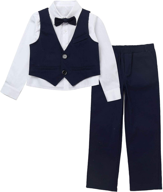 Haitryli Kids Boys 3PCS Party Formal Dress Waistc Suit Excellent Set Indianapolis Mall Shirt
