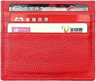 e6d13bb8fac Tarjetero con protección RFID, de la marca Hibate, fino y de cuero