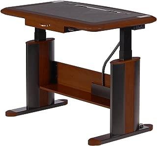 Luxury Sit-Stand Desk Wellston Executive Standard Size, Estate Cherry, Drawer