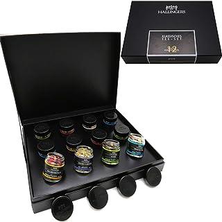 Hallingers 12er Tee-Geschenk-Set mit Tee aus aller Welt 120g - Klassisches Tee-Set Design-Karton - zu Passt immer