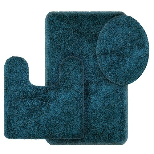 Better Homes and Gardens Thick and Plush 3-Piece Bath Rug Set, Corsair