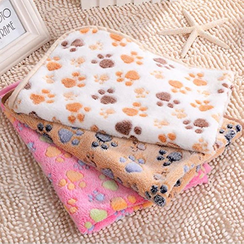 Global Brands Online Pet Paw Print Dog Puppy Cat Soft Fleece Blanket Bed Mat Winter