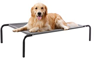 WESTERN HOME WH Elevated Dog Bed cot, Raised Portable Pet Beds for Extra Large Medium Small Dogs with Breathable Mesh, Ind...