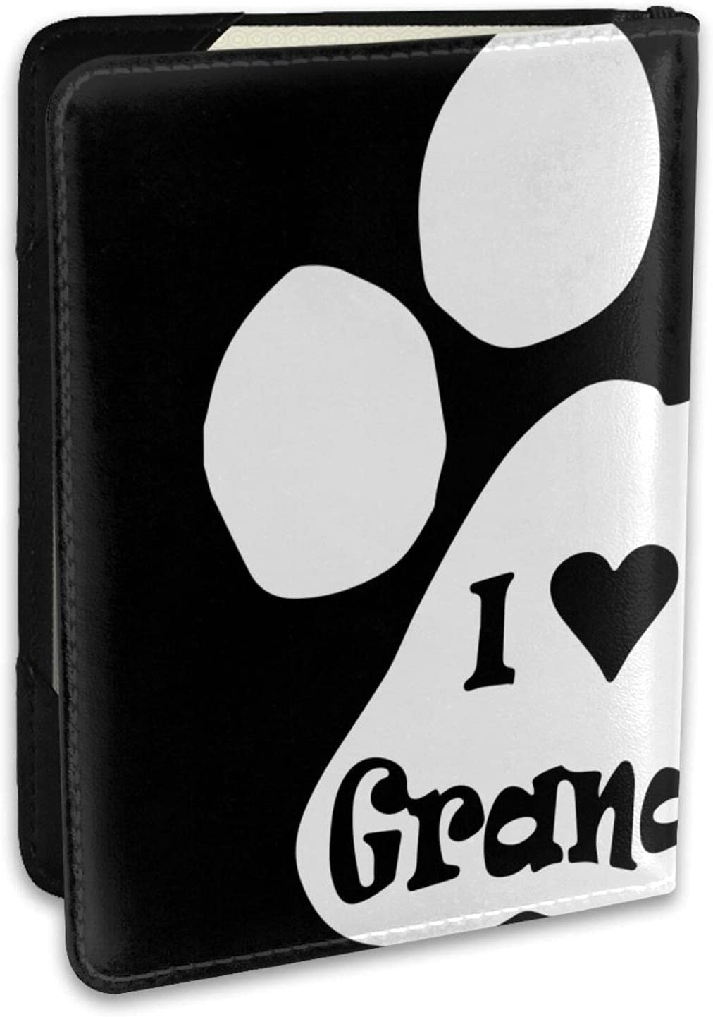 I Love My Granddog Leather Passport Cover Max 42% Cheap sale OFF Ca Case Holder Credit