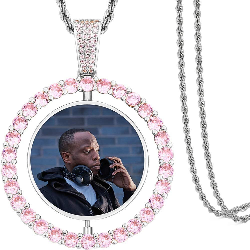 TUHE Custom Picture Necklace 正規店 Personalized fo Photo with 訳あり