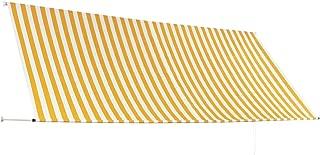 Tidyard Tenda Laterale per Terrazzo Multifunzionale,Tenda per terrazzo esterno180x200cm Crema