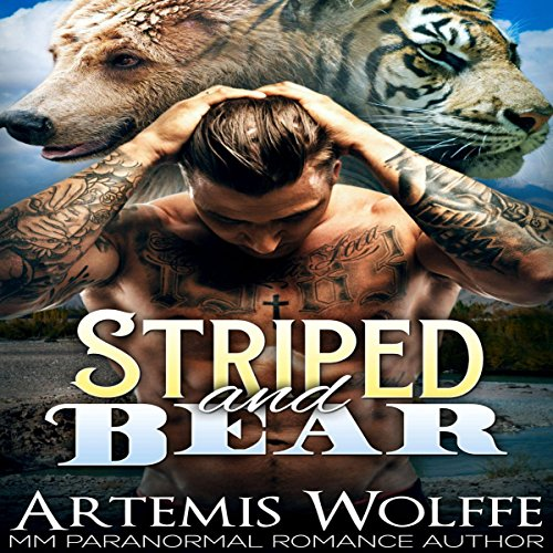 Couverture de Striped and Bear: M/M Gay Shifter Mpreg Romance