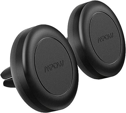 Mpow Supporto Auto Magnetico per Bocchette dell'Aria Auto,Robusto Porta Cellulare Auto Magnetico con 4 Piastre Metalliche Compatibile con iPhone XS Max/XR/X, Galaxy S10/S9, Huawei ed Altro