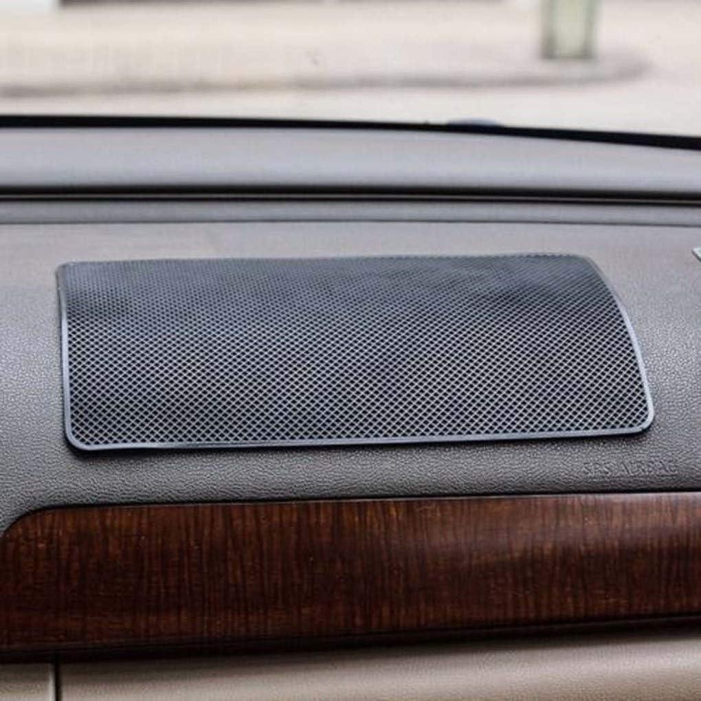 rongweiwang Rechteckige Auto-Armaturenbrett-Handy-Tablette Anti-Rutsch-Matte Hitze rechteckige Schwarze Armaturenbrett Matte Resistant Ornament Platz PVC-Auflage