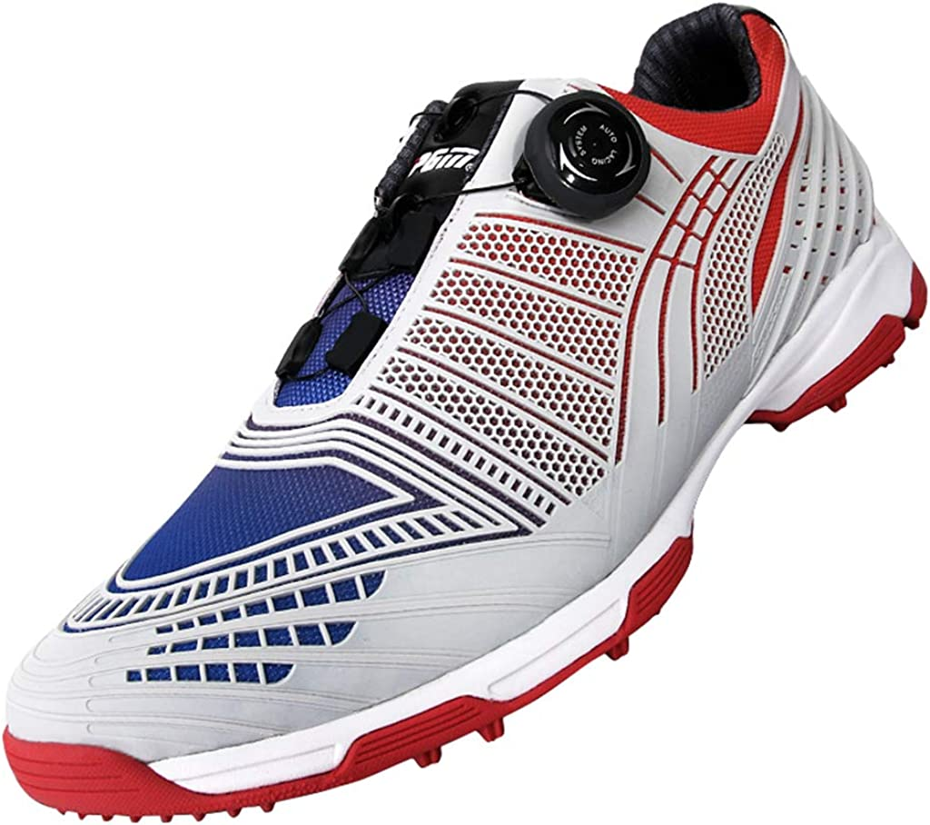 BHB supreme Waterproof Spike Golf Shoes System Lace for with latest Men