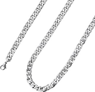 HolyFast Figaro Link Chain Necklace Stainless Steel Necklace for Men Woman Jewelry 4.5-8.8mm Wide 16-36IN