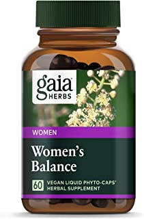 Gaia Herbs Women's Balance, Vegan Liquid Capsules, 60 Count - Hormone Balance for Women, Mood and Liver Support, Black Cohosh, St John's Wort, Organic Red Clover & Dandelion Root