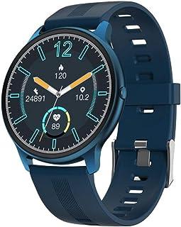 Gymqian Smart Watch Smart Watch Men Ip68 Impermeable Fitness Tracker Tasa Del Corazón Monitoreo Del Reloj Reloj de Tiempo Mostrar Moda Deportes Banda-Pink El mejor regalo/Azul