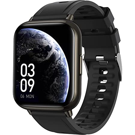 AGPTEK 1,69 Pouces Montre Connectée Homme, Smartwatch Sport Bluetooth 5.0 avec Grand Écran, Fréquence Cardiaque, Podomètre, Oxymètre, Sommeil, Bracelet Intelligente Étanche IP68, Noir