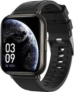 ساعة ذكية، ساعة ذكية AGPTEK 1.69 بوصة (43 مم) لهواتف Android وiOS IP68 لتتبع اللياقة البدنية المقاومة للماء مراقب معدل ضرب...