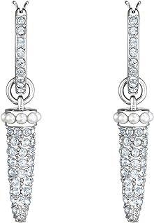 Swarovski Crystal Authentic Polar Bestiary Pierced Hoop Earrings, Rhodium Plated - Women's Elegant Hypoallergenic Fashion ...