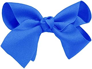 "Royal Blue Bows – Alligator Clip Hair Bows for Girls - 5"" Grosgrain Cheer Bow - Patriotic Accessories - by CoverYourHair"