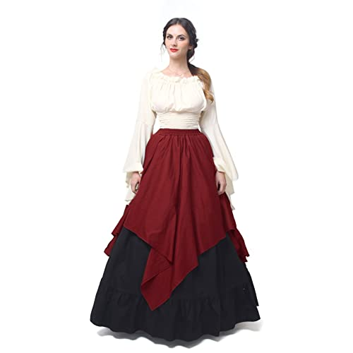 3ff746f97798a NSPSTT Womens Renaissance Medieval Costume Dress Gothic Victorian Fancy  Dresses