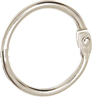 School Smart Nickel Plated Steel Loose Leaf Ring, 1 Inch, Pack of 100 - 36975