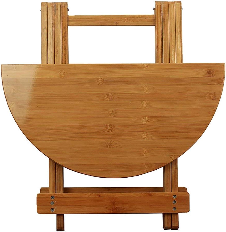 venta mundialmente famosa en línea Wghz Wghz Wghz Mesa rojoonda de Madera Plegable de bambú Mesa de Comedor para el hogar pequeño Escritorio rojoondo (Tamaño  70  60 cm)  El nuevo outlet de marcas online.