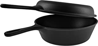 BBQ Future Cast Iron Dutch Oven | 3 Quart Cast Iron Multi Cooker Stock Pot For Frying, Cooking, Baking & Broiling on Induc...