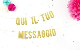 Festone personalizzabile Festoni con nomi personalizzati Ghirlanda con i nomi degli sposi. Lettere personalizzate Festa ch...