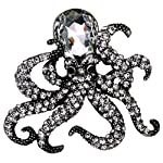 YACQ Jewelry Crystal Creepy Octopus Pin Brooch for Halloween Costume Accessories Party Women Teen Girl 9