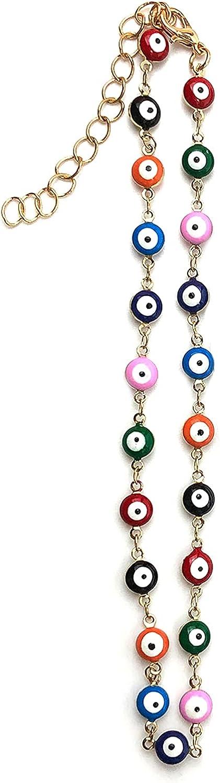MGGFBLEY Evil Eye Necklace Chokers Evil Eye Jewelry Set for Women Girls