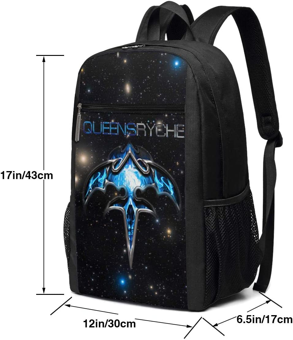 Queensryche Logo Backpack Multifunction Travel Hiking Backpack Canvas Laptops Bags Watertight Bookbag
