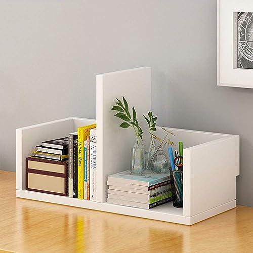 Bücherregal aus Holz Desktop Bookshelf Display Shelf File Book Organizer Rack für Zuhause, Büro - 3 Farben optional Regalst er zur Aufbewahrung von Holzregalen