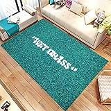 Wet Grass Patterned Rug, Wet Grass Carpet, for Living Room, Fan...
