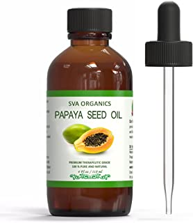 SVA ORGANICS 100% PURE COLD PRESSED PAPAYA SEED OIL 4 OZ (118 ML) VIRGIN/UNREFINED