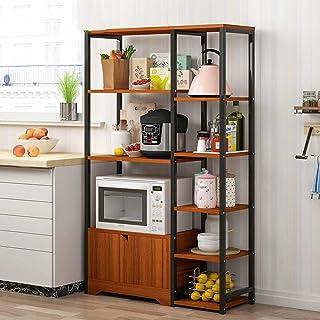 Rangement Cuisine Organisateur étagère Utilitaire Vintage étagère de rangement à micro-ondes Cuisine Support Baker Rack av...