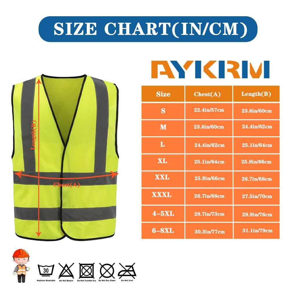AYKRM Chaleco de Seguridad Alta Visibilidad