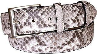 ESPERANTO Cintura in Pitone color Roccia con Fodera in Pelle Bovina Naturale - Altezza 4 cm