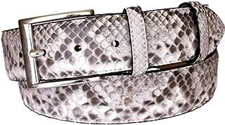 Cintura vero cuoio uomo e donna anticato a mano fodera vera pelle nabuk 4 cm