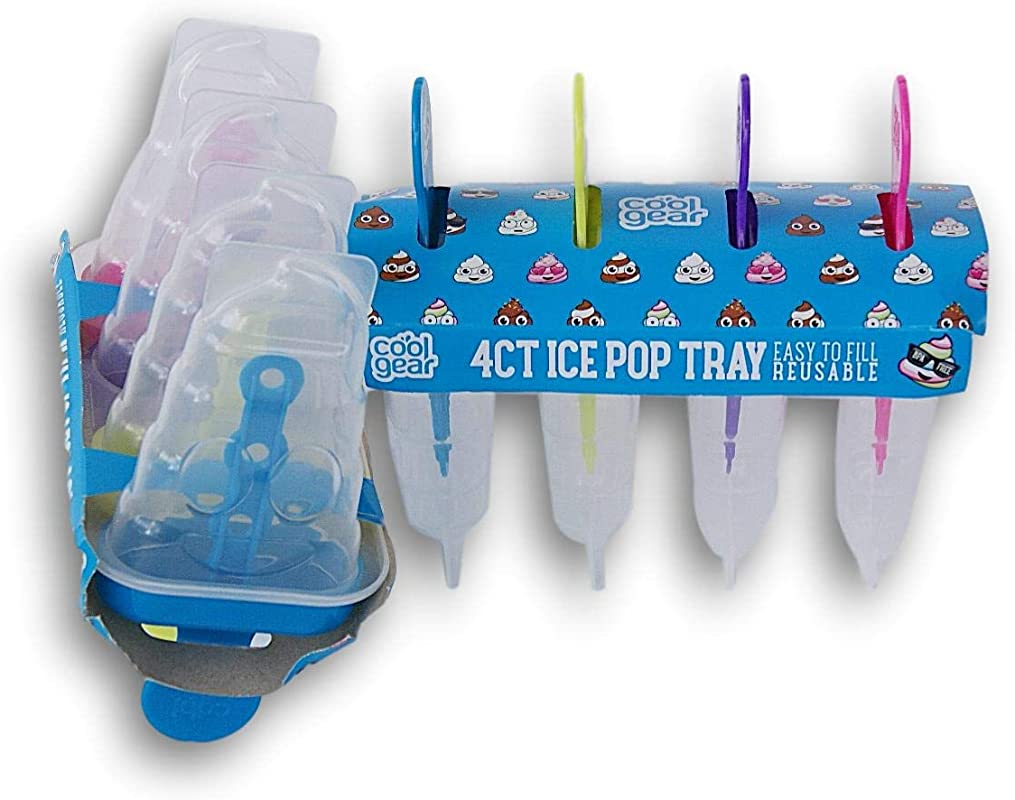 Cool Gear BPA Free Ice Pop Popsicle Mold Tray 2 Count Poop Theme