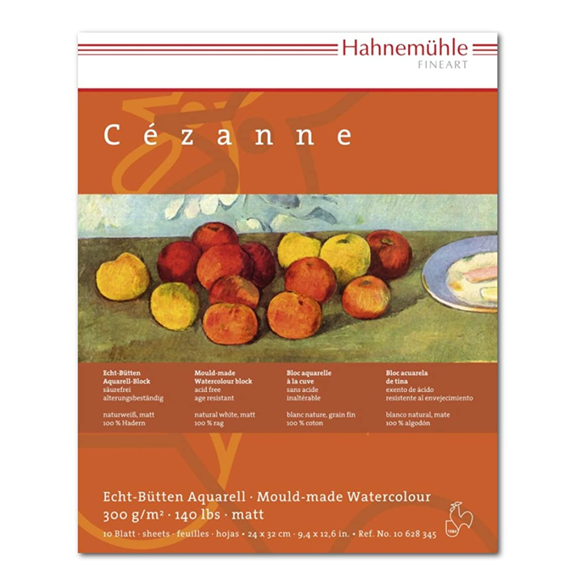 Hahnemuhle Cezanne Watercolor Block Matte Surface 9.5x12.5 Inches 300gsm 10 Sheets,White