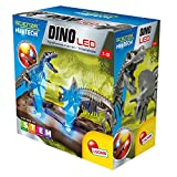 Un modo di osservare i dinosauri Base LED RGB Scheletro t-rex, scheletro triceratops Manuale illustrato Base ambientata con luci LED
