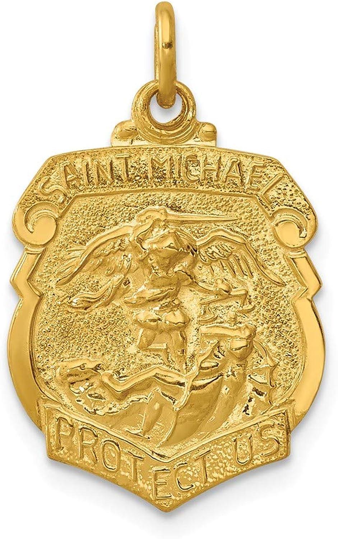 24 K VerGoldet Sterling Silber Saint Michael Michael Michael Abzeichen Medaille B071Y1KDCM c866a1