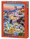 Castorland Santorini Lights 1000 pcs Puzzle - Rompecabezas (Puzzle Rompecabezas, Ciudad, Niños y Adultos, Niño/niña, 9 año(s), Interior)