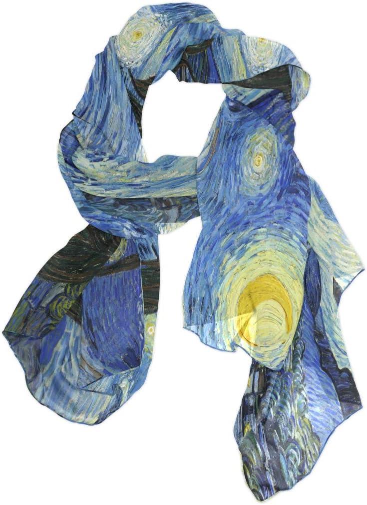 TropicalLife CFAUIRY Women Scarf Scarves Van Gogh Starry Night Fashion Soft Lightweight Long Large Wrap Shawls